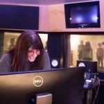 Kerry Pompeo in the recording studio